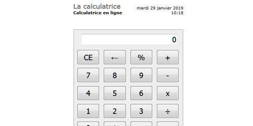 Une calculatrice en ligne entièrement gratuite