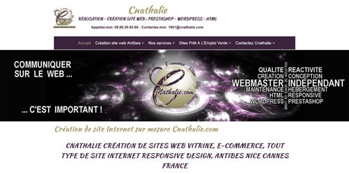 Webmaster création site web avec l'agence web Cnathalie